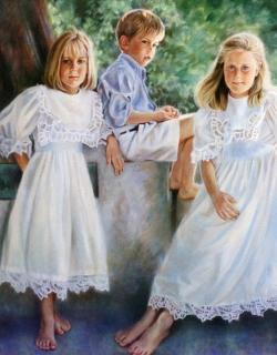 Katie, Bo & Liza 46x46